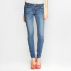Catwalk88 Women's Spring Summer Trousers Low Waist Slim Feet Denim Jeans - Water Blue (Size 25)