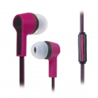 S-What Stylish 4-CH 3.5mm Jack Wired In-Ear Stereo Earphone w/ Mic. - Black + Purple