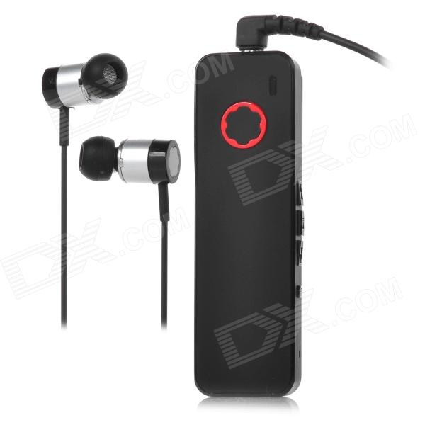 DON SCORPIO DH-h1 Clip-on Smart Bluetooth V4.0 Wired Hi-Fi Music Stereo Headset w/ Mic - Black + Red
