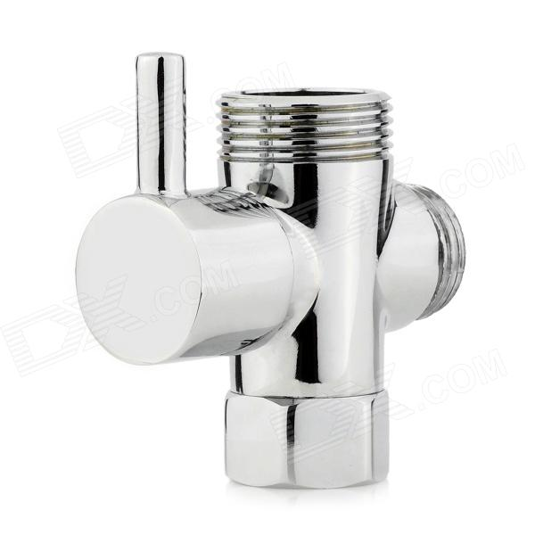 4/6 Brass Shower Shunt Valve - SilverAccessories<br>Color Silver Material Brass Quantity 1 Piece Finish Chrome Water pipe?inch? 2 cm Sink compatibility 2 cm Style Contemporary Packing List 1 x Valve 1 x Rubber ring<br>