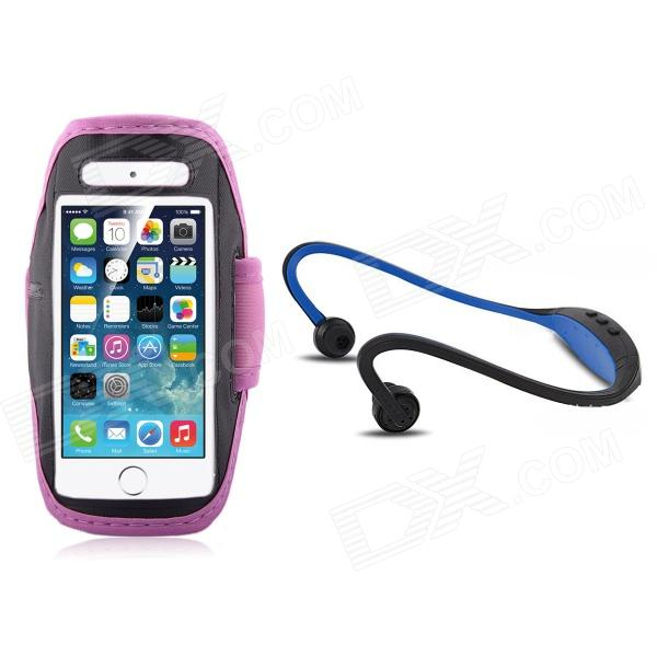 Running Sport Waterproof Armband Case + Back-Hang Hands-free Stereo Headset for IPHONE 5S / 5 the sharper image all in one hands free armband pet leash