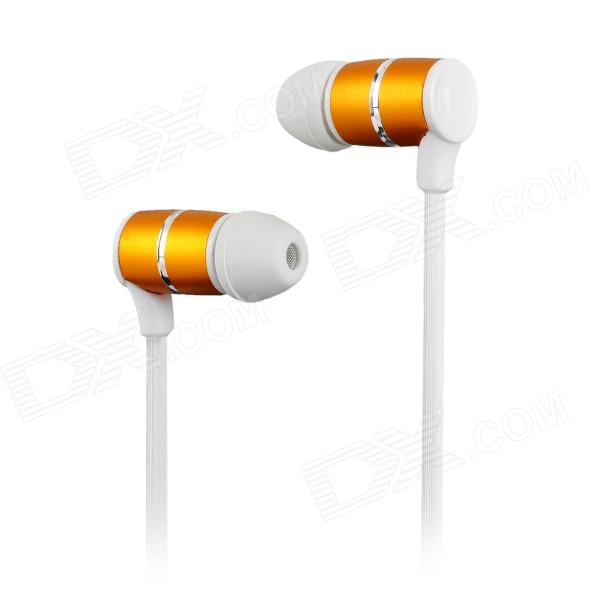 Nameblue ST-33 Sport Bluetooth V4.0 In-Ear Style Headset w/ Microphone - White + Golden nameblue st 33 sports bluetooth v4 0 in ear earphone headphone set w microphone volume control