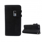 Protective PU Leather Wallet Stand Design Case for IPHONE 5 / 5S - Dark Grey