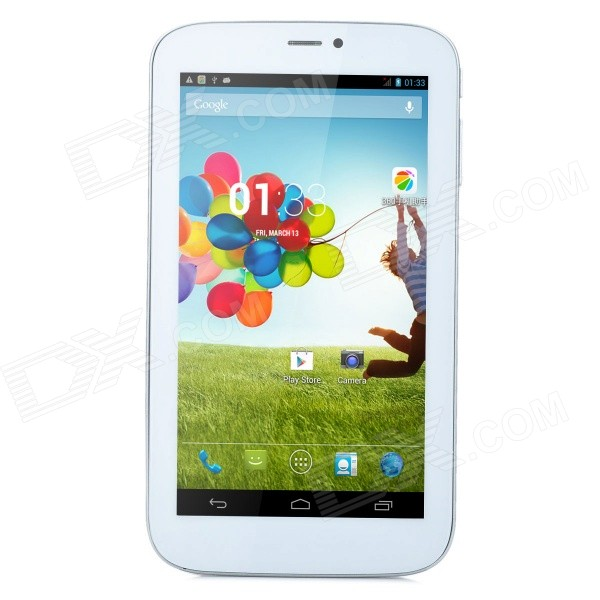 M791 7 Android 4.2 Dual-core Tablet PC w/ Wi-Fi, TF, Dual-SIM and Bluetooth - White + Silver