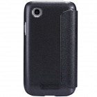 NILLKIN Protective PU Leather + Cover PC para LG L40 D170 - Negro