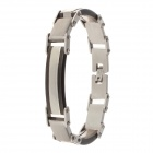 Stylish 316L Stainless Steel Anti Allergic Bracelet for Men - Black + Silver