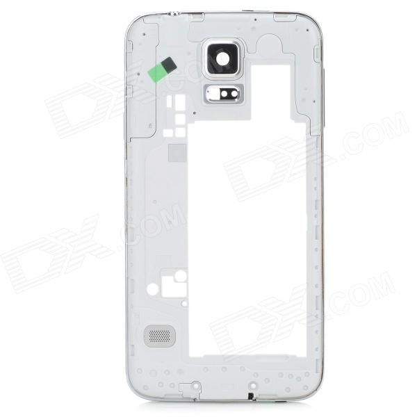 Replacement Repair Parts Plastic Middle Plate Frame for Samsung Galaxy S5 - Silver