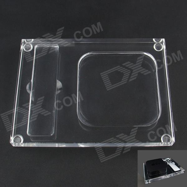 Acrylic Base / Stand for Apple TV2 / TV3 - TransparentRemotes &amp; Docks<br>Form  ColorTransparentModelApple TVQuantity1 DX.PCM.Model.AttributeModel.UnitMaterialAcrylicShade Of ColorTransparentCompatible ModelsOthers,Apple TV2 / TV3JailbreakNoFunctionOthersConnectorOthers,N/AInputN/AOutput interface, output current, output voltageN/APacking List1 x Acrylic Base<br>