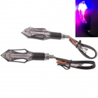 2W 112LM 5000K 14-LEDs Cool White Light Steering / Brake Lamp for Motorcycle - Black