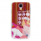 Kinston Groovy Girl Pattern Hard Case for Samsung Galaxy S4 i9500 - Red + Pink
