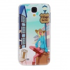 Kinston Country Girl Pattern Hard Case for Samsung Galaxy S4 i9500 - Green + Blue