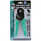 Pro'sKit CP-462G Wire Ferrule Square Crimping Pliers - Green + Black (175mm)