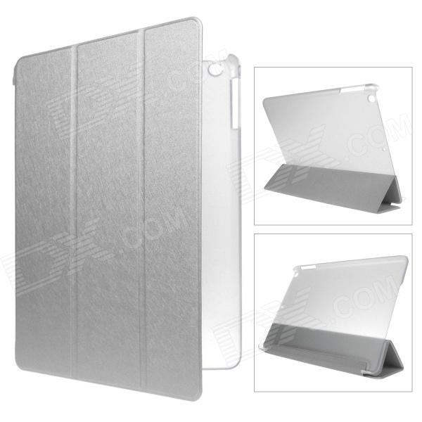 Mr.northjoe 3-Fold Protective PU Leather Case Cover Stand w/ Auto Sleep for IPAD AIR - Silver luxury brand cover flip pu leather case for ipad 4 ipad 2 smart cover for new ipad 3 ipad 4 slim thin tablet stand case 9 7