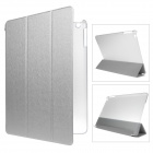 Mr.northjoe 3-fold protective pu leather case cover stand w/ auto sleep for ipad air - silver
