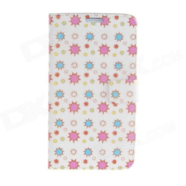 Kinston Colorful Star Pattern PU Leather Full Body Case for Samsung Galaxy Note 3 - White + Pink kinston colorful star pattern pu leather full body case for samsung galaxy note 3 white pink