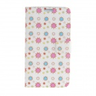 Kinston Colorful Star Pattern PU Leather Full Body Case for Samsung Galaxy Note 3 - White + Pink