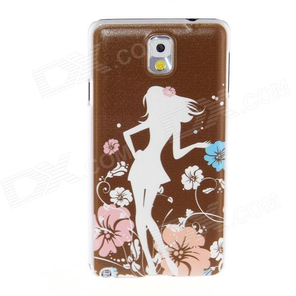 Kinston Teenage Girl Pattern Plastic Hard Case for Samsung Galaxy Note 3 - Coffee + White kinston teenage girl pattern plastic hard case for samsung galaxy note 3 coffee white