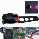 ZHISHUNJIA Waterproof 30lm 1-LED Red Light 2-Mode Warning Bike Light - Black + Red (2 x CR1220)