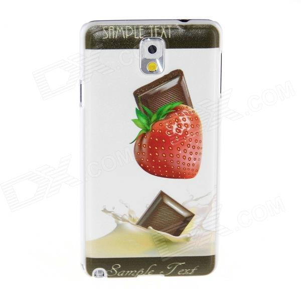 Kinston Strawberry Chocolate Pattern Plastic Hard Case for Samsung Galaxy Note 3 - White + Red kinston teenage girl pattern plastic hard case for samsung galaxy note 3 coffee white