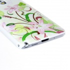 Kinston Flowers Lead Butterfly Pattern Plastic Hard Case for Samsung Galaxy Note 3 - Pink + Green