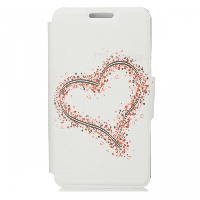 Kinston Big Heart And Small Heart Pattern PU Leather Case Full Body para Samsung Galaxy Nota 3