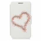 Kinston Big Heart And Small Heart Pattern PU Leather Full Body Case for Samsung Galaxy Note 3