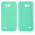 DF-001 Protective TPU Case w/ Anti-dust Plugs for Huawei Honor 3C - Light green