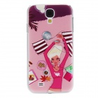 Kinston Relaxed Girl Pattern Hard Case for Samsung Galaxy S4 i9500 - Pink + Brown