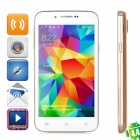 "H500W Android 4.4.2 Dual-core WCDMA Smart Phone w/ 4.3"" IPS, Wi-Fi and GPS - Golden"