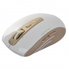 Rapoo 3920P 5G 1600dpi USB 2.0 Wireless Laser Gaming Mouse w / récepteur - Golden + Blanc (2 x AA)