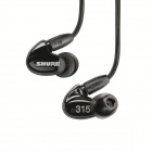 Shure SE315-K Sound Isolating Earphone Hi-Definition Micro Speaker with Tuned Bass Port Black