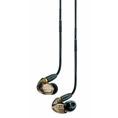 Shure SE535-V Triple High-Definition MicroDriver Earphone with Detachable Cable Metallic Bronze