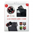 Olloclip Red Lens/Black Clip and Black Case olloclip iPhone 5/5s: 4 in 1 Lens + Quick Flip Case