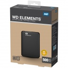 WD Elements 500GB USB 3.0 Almacenamiento en disco duro WDBUZG5000ABK