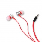 Universal Piston Type 3.5mm In-Ear Stereo Earphones w/ Dust Plug for Cellphone, MP3, PC - Red