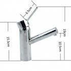 Contemporary Chrome Finish Single Handle Bathroom Sink Faucet - Silver