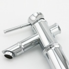 Bamboo Shaped Chrome Finish Brass Bathroom Sink Faucet - Silver