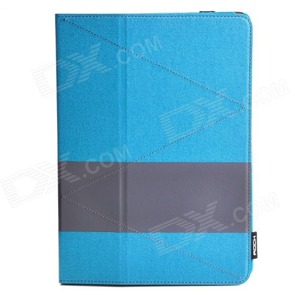 ROCK PU Leather Case Cover Stand w/ Auto Sleep for Samsung Galaxy Tab Pro 10.1 T520 / T521 - Blue tablet business pu leather stand case cover for samsung galaxy tab 3 10 1 inch p5200 p5220 p5210 with magnetic auto sleep