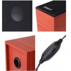 BLUELOVER S60 Multimedia Wooden Speaker - Wood Yellow + Black