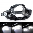 Marsing KC-018 Cree XM-L T6 + 2 x Cree XM-L R2 1800lm 4-Mode White Headlamp / Bike Light - Black