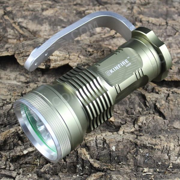 KINFIRE K440S 4-LED 2400lm 5-Mode White Flashlight - Dark Green (4 x 18650) kinfire k40x 4 led 2000lm 3 mode white flashlight gray 4 x 18650