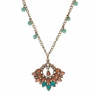 Retro Women's Rhinestone Style Zinc Alloy Sweater Necklace - Bronze + Yellow + Multi-Colored