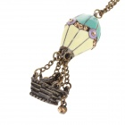 Retro Hot-air Balloon Style Zinc Alloy villapaita ketju / kaulakoru - Pronssi + Sininen + Multicolor