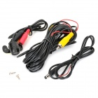Color CMOS CCD Screw Mounting 170º Wide Angle Car Rearview Camera w/ Night Vision - Black (DC 12V)