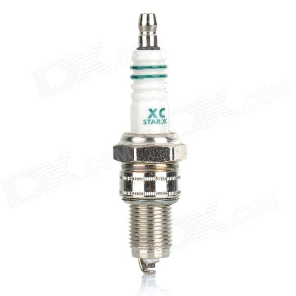 W7DC F6TC Replacement Spark Plug - White + Silver - DXOthers<br>Length of screw thread: 19mm; Diameter of screw thread: 14mm; Across diameter of hex screw: 21mm; Compatible models: vehicles with 168 petrol engine2000W petrol engine462/465 engine;Suitable for every microcars / VW Santana / Changan / Wuling / Xiaokang / Changhe / Hafei / Great Wall pickup truck / micro lawn mower series.<br>