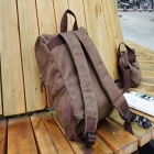 ZIQIAO-302 Durable Canvas Backpack / Handbag for Men - Coffee