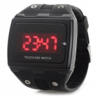 Stylish Touch Screen Digital LED Sports Wrist Watch - Black (1 x CR1220)