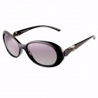 Reedoon Women's PC Frame Resin Lens UV400 Protection Sunglasses - Black