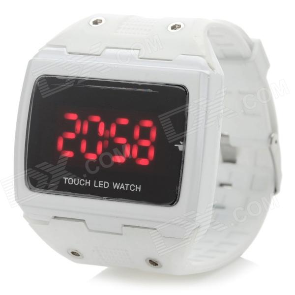 Stylish Touch Screen Digital LED Sports Wrist Watch - White (1 x CR1220)