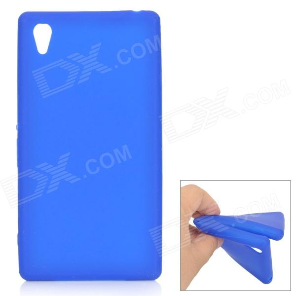 Protective Silicone Back Case for Sony Xperia Z1 / L39H / C6902 - Blue